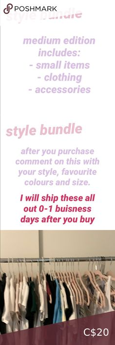 Styles bundle medium - 1-4 clothing pieces - 4 accessories - butterfly clip - stickers *smoke free environment* *tagged brandy Melville for exposure* Brandy Melville Other Brandy Melville Stickers, Brandy Melville Usa, Cheap Nice Clothes, Clothes For Sale, Blue Two Piece, Off Shoulder Romper, Purple Bags, Green Bag