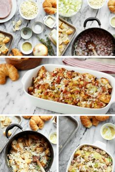 Ham and Cheese Croissant Stuffing...Use Jones Ham Steaks or even leftover ham in this cheesy stuffing recipe made with toasted croissant pieces.
