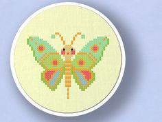 Colorful Butterfly. Cross Stitch PDF Pattern. $3.50, via Etsy.