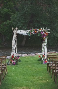wedding chuppahs - photo by Harper Point Photography http://ruffledblog.com/outdoor-bohemian-colorado-wedding