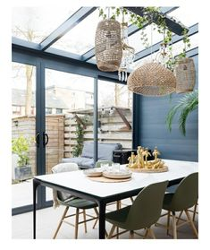 Garden Room, Outdoor Decor, House Extensions, House Inspo, Outdoor Tables, Patio Decor, New Homes, Home Decor, Dining Room Inspiration