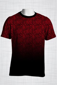 Plus Size Men's Clothing Red paisley print CC0444 #plussizemensclothing
