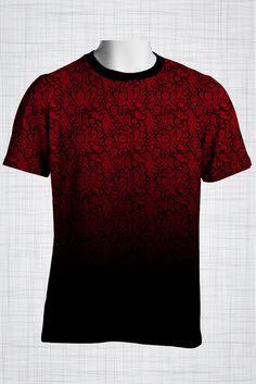 Plus Size Men's Clothing Red paisley print CC0444  #plussizemensclothing