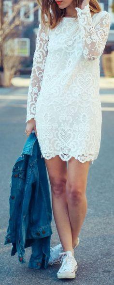 White Lace Inspiration Dress