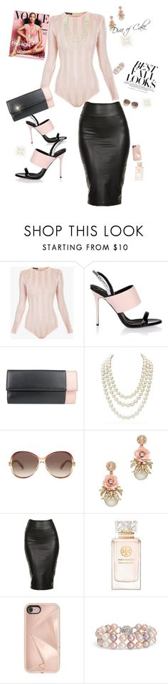 """Diva pink and black outfit"" by Diva of Cake on Polyvore featuring Balmain, Giuseppe Zanotti, Gucci, Chanel, H&M, Marc Jacobs, Tory Burch, Rebecca Minkoff and Blue Nile"