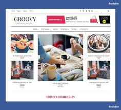 Groovy Fashion Magazine Free #Blogger Template