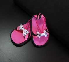 American Girl Doll Clothes- Shoes, 18 inch Dolls PINK ZEBRA Sandals For American Girl Dolls and Similar Dolls