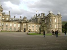 Holyrood Castle, Scotland.  The Queen was in residence when we visited