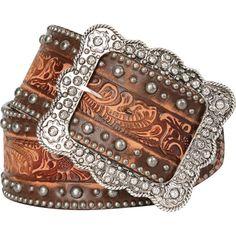 Double J Ladies Saddlery Vintage Hand Tooled Western Cowgirl Belt