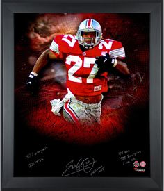 Eddie George Ohio State Buckeyes Framed Autographed 20   x 24   In Focus f712fc3d3