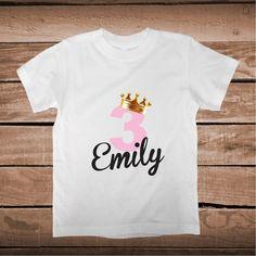 Custom Princess Birthday Onesie or Tee _ Birthda Baby Tees _ Custom bday Tees _ Princess Bibs _ Princess Crawlers With Name _ Prime Decals