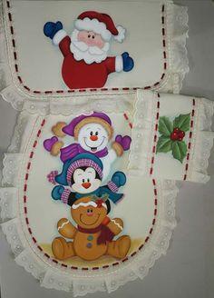 Ideas Para, Chocolate, Christmas, Bath Towels & Washcloths, Dish Towels, Xmas, Christmas Snowman, Christmas Bathroom, Christmas Fabric