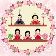 Seed Bead Jewelry, Seed Beads, Beaded Jewelry, Hina Matsuri, Japan Crafts, Beading Patterns Free, Girl Day, Japanese Art, Minnie Mouse