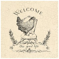 Good Life Chicken Print at Art.com