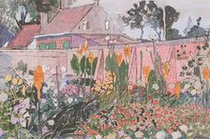 Toorop   Domburg Art Nouveau, Art Deco, Garden Park, Dutch Painters, Pointillism, Dom, Impressionism, Flower Art, Modern Art