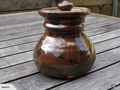 Andrew Van der Putten - lidded pot for sale on Trade Me, New Zealand's auction and classifieds website Ceramic Jars, Pots, Porcelain, Van, Pottery, Ceramics, Hall Pottery, Hall Pottery, Ceramic Pots