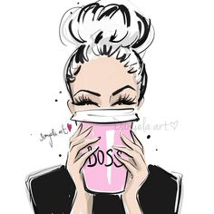 Triple BOSSY ESPRESSO for today morning please! 💕 15 min sunday evening sketch for better monday morning ✍🏻 Have a beautiful… Fashion Sketches, Art Sketches, Art Drawings, Watercolor Clipart, Pop Art, Mode Poster, Fashion Wall Art, Girl Boss, Boss Babe