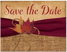 Front of Save the Date (Rustic Wedding)