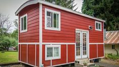 Cozy and Beautiful Tiny Red Bungalow House with Dual Lofts