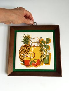 Mid Century Framed Tile by 1006Osage on Etsy
