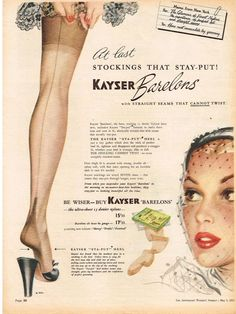 KAYSER AD BARELONS NYLONS STOCKINGS Vintage Advertising 1951 Original Advert in Collectables | eBay
