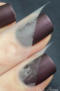Two-Tone Taped Mani   20 Beautiful Nail Tutorials You Need To Try This Fall