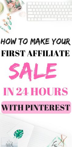 The strategy I used to get my first affiliate sale. You can earn money through affiliate marketing without a website. All you need is a Pinterest account! To find out how I made my first affiliate sale on Pinterest in order just 24 hours, click on the pin