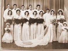 1940's Huge Wedding Party