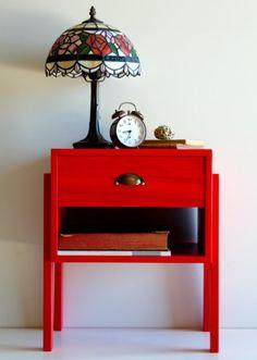 Mid Century Bedside Table/ Custom made/ Handmade/ Retro Design
