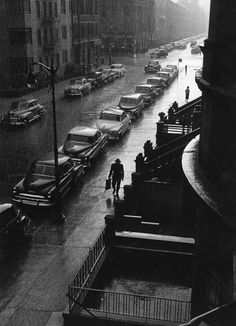 The man in the rain - New York City, 1952
