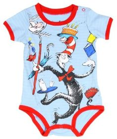 Amazon Dr Seuss Cat In The Hat Cartoon Baby Creeper