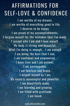 Daily Affirmations for Self-Love & Confidence - New Ideas Positive Affirmations Quotes, Self Love Affirmations, Morning Affirmations, Affirmation Quotes, Positive Quotes, Affirmations Confidence, Gratitude Quotes Thankful, Attitude Of Gratitude Quotes, Attitude Positive