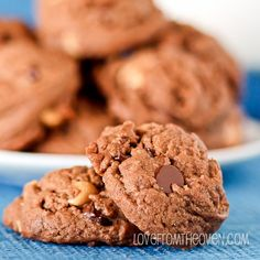 Peanut Butter Cup Cookies :http://www.lovefromtheoven.com/2013/12/18/peanut-butter-cup-cookies/
