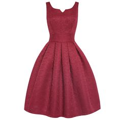 'Felicia' Wine Swing Dress