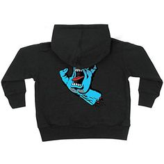 Santa Cruz Screaming Hand Hooded Zip LS  Black  Mens Sweatshirt XLarge -- Visit the image link more details.(This is an Amazon affiliate link and I receive a commission for the sales)
