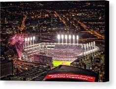 Game 7 World Series 2016 Canvas Print by Jackie Sajewski
