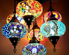 Wall Chandelier Moroccan Lamp Rainbow Lamps Bedside Wall light Hanging Moroccan Lantern Lamp Ceiling Turkish Lamp - Bohemian Home Living Room Turkish Lamps, Moroccan Lamp, Moroccan Lanterns, Moroccan Style, Turkish Lights, Moroccan Bedroom, Moroccan Interiors, Modern Moroccan, Turkish Tiles