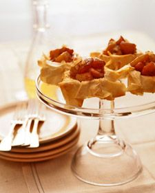 Caramelized Apples in Phyllo Tarts