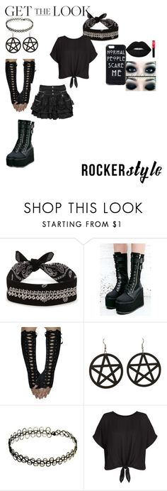 """Rocker Style(RTD)"" by twisteddreamcatcher on Polyvore featuring Fallon, Demonia, New Look, Lime Crime, rockerchic and rockerstyle"