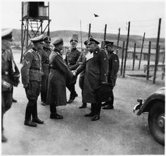 Richard Glücks, Nazi Inspector of Concentration Camps with the SS-Staff of Gross-Rosen Concentration Camp. Ww2 Uniforms, Real Monsters, The Third Reich, Photo B, World War Two, Wwii, The Past, Germany, Military