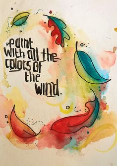 Paint With All the Colors of the Wind by Savsartsandcrafts on Etsy follow the link to purchase!!