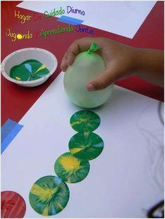 Einfache und coole Idee Drinnen zu Beschäftigen - Malen mit Luftballons *** Painting for Kids using a balloon - Easy Indoor Activity
