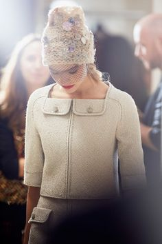 #Chanel #hat #backstage #beanie #nude #beije #collection#fall