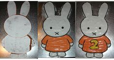 The evolution of a Miffy birthday cake - apologies for the poor photos taken late at night I was unable to find a recipe/template for a . Birthday Party Themes, 2nd Birthday, Birthday Cakes, Birthday Ideas, Miffy Cake, Rainbow Cupcakes Recipe, Happy Birthday Bunny, Rabbit Cake, Throw A Party