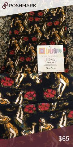 Spotted while shopping on Poshmark: NWT LULAROE Black Hawaiian Hula Dancer OS legging! #poshmark #fashion #shopping #style #LuLaRoe #Pants