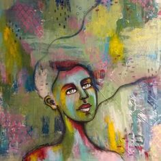 Mixed media art. Artist: Denise Bos. See more on www.denisebos.com. Hopes And Dreams, Medium Art, Mixed Media Art, Artist, Painting, Artists, Painting Art, Mixed Media, Paintings
