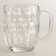 Serve cider beers and other brews in style with our Dimpled Glass Beer Steins. Crafted of thick, dimpled glass in the style of traditional Oktoberfest mugs, these large-capacity steins feature wide handles to keep your body heat away from the beer.