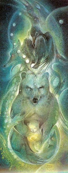Astral Totem - remembering Susan Seddon Boulet and her enlightened artistry in portraying Goddesses - One Vibration Native Art, Native American Art, Spirit Art, Animal Spirit Guides, Animal Medicine, Power Animal, Illustration Art, Illustrations, Bear Art