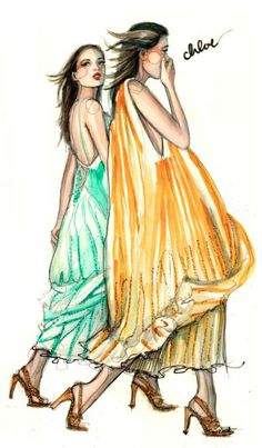 Modeconnect.com - Fashion Illustration of Chloe dresses