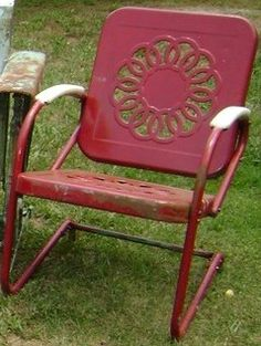 At the bottom of the garden on pinterest vintage metal - Old fashioned patio furniture ...